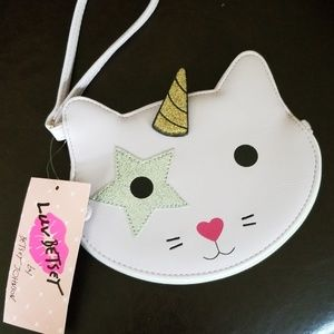 Betsey Johnson cat/unicorn coin purse
